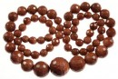 Brown golstone, faceted , 6-14mm