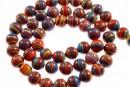 Multicolor syntethic malachite, round, 6mm