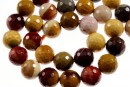Moukaite jasper, faceted round, 12mm
