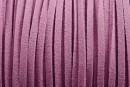 Snur faux suede, lila, 3mm - x5m