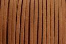 Snur faux suede, maro cafeniu, 3mm - x5m