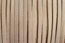 Snur faux suede, nisipiu intens, 3mm - x5m