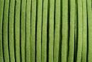 Snur faux suede, verde fistic, 3mm - x5m