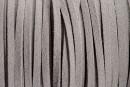Snur faux suede, gri, 3mm - x5m