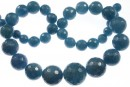 Blue angelite quartz, faceted round, 8-18mm