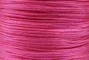 Snur matase pentru bratari, roz vintage intens, 0.8mm - x5m