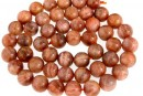 Natural intense brown moonstone, round, 8.5mm
