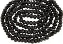 Black spinel, natural, faceted rondelle, 2,7-3mm