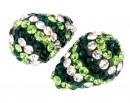 Margele shamballa, picatura, un orificiu, emerald, 17x11mm - x1