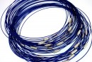 Baza colier, albastru royal  - x3