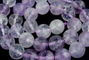 Amethyst, light clear, faceted round, 12mm