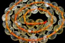 Citrine, natural, clear, microfaceted round, 10mm