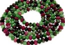 Ruby in zoisite, faceted rondelle, 3.3mm