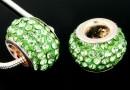 Margele european style, shamballa, fern green, 12mm - x1