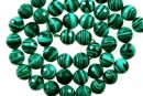 Green syntethic malachite, faceted round, 4mm
