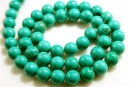 Natural stone Turquoise,  A grade, round, 6mm