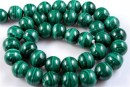 Malachite, natural stone, round, 10mm