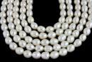 Perle de cultura - 6.5x5.5mm, alb