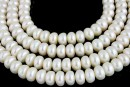 Perle de cultura - 9x6mm, alb