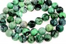 Natural lime turquoise, round, 8.5mm