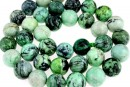 Natural lime turquoise, round, 10.5mm
