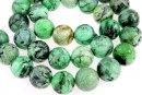 Natural lime turquoise, round, 12.5mm
