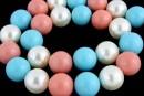 Perle Mallorca, rotund, multicolor, 16mm
