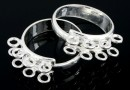 Ring base, 925 silver, 8 loops, adjustable, - x1