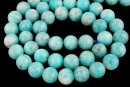 Peruvian amazonite, natural, round, 8mm