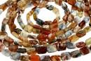 Natural brandy opal, flat rectangle, 10x8mm