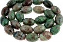 Natural green garnet, rounded oval, 14x10mm
