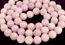 Pink kunzite, A+ grade, natural, round, 7mm