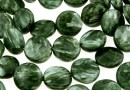 Seraphinite, flat disc, 12mm