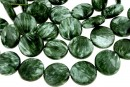 Seraphinite, flat disc, 16mm