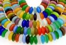 Margele ochi de pisica, disc, multicolor, 10x4mm