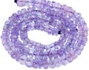 Tanzanite, natural stone, faceted rondelle , 3-4mm