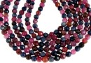 Mix ruby and sapphire, natural, faceted round, 4-4.5mm