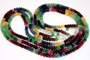Ruby, sapphire and emerald, natural stone, faceted rondelle, 5-5.5mm