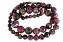 Ruby in zoisite, natural stone, faceted round, 5-13mm
