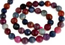Mix ruby and sapphire, natural, faceted round, 7.5-8mm