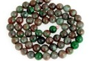Natural green garnet, round, 6-6.5mm