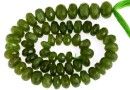Natural olive garnet, faceted rondelle, 6-6.7mm