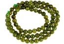 Natural olive grossular garnet, round, 5.2mm
