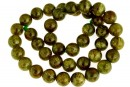 Natural olive grossular garnet, round, 10mm