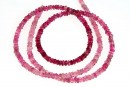Pink tourmaline, natural stone, faceted rondelle, 3.3mm