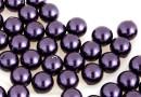 Perle Swarovski cu un orificiu, dark purple, 6mm - x4
