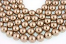 Swarovski pearl, bronze, 3mm - x100