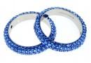 Swarovski, pave ring, sapphire, 18.5mm - x1