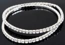 1088 Swarovski crystal bracelet, rhodium plated, 18cm - x1