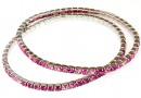 1088 Swarovski happy pink mix bracelet, rhodium plated, 18cm - x1